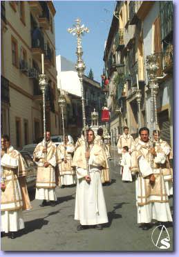 Resultado de imagen de San Román: procesión eucarística sevilla